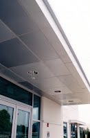 Exterior soffit in prefinished material