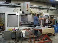 One of our guys at the CNC milling Machine