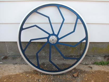 Custom aluminum racing sulky wheels